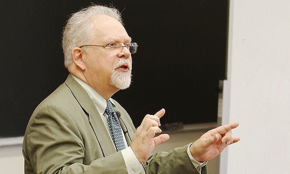 Richard Bulliet, professor of history at Columbia, speaks in the Social Sciences Building Monday.