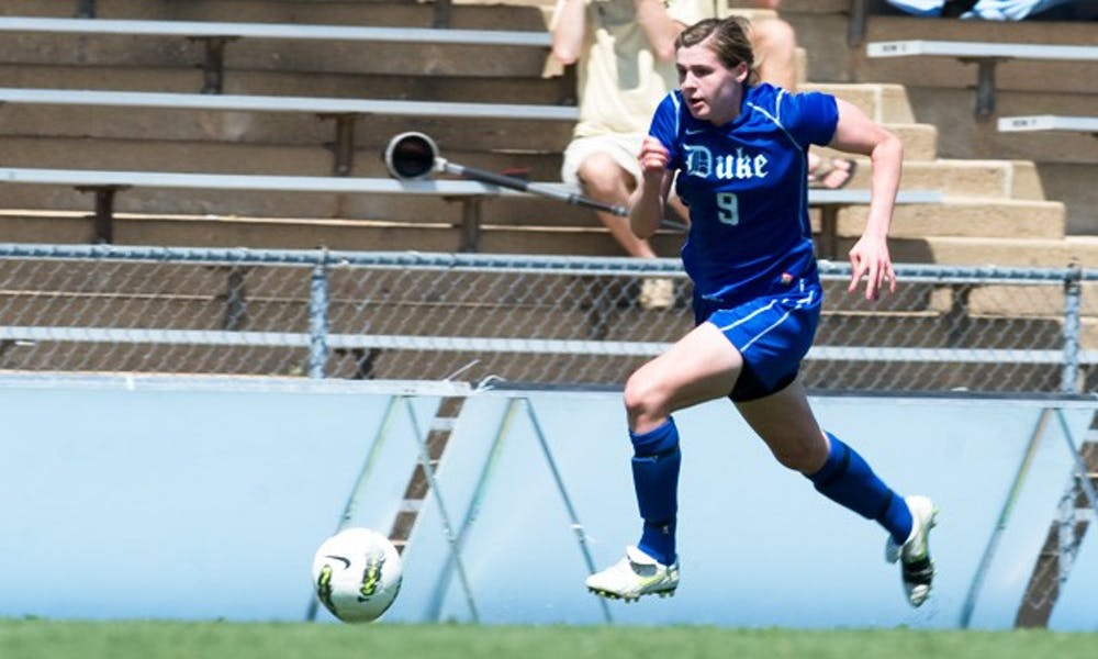 Freshman Kelly Cobb scored the Blue Devils' only goal of the weekend, a game-winner in the 76th minute against Ole Miss on Sunday.