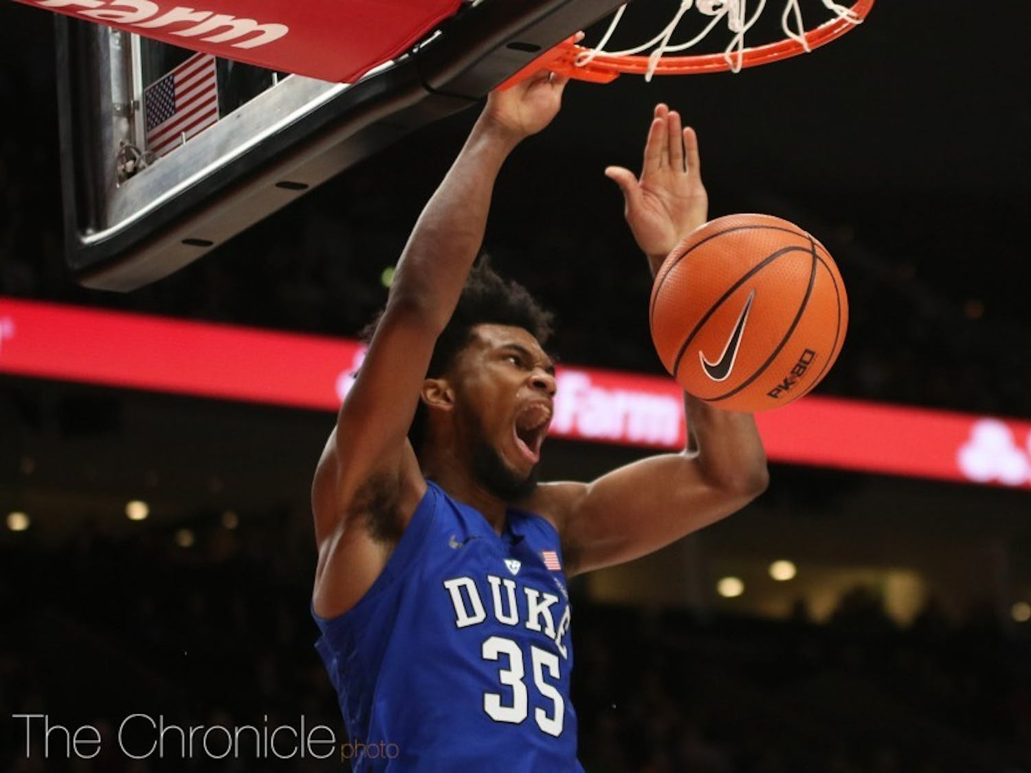 Marvin Bagley III matched Duke's freshman scoring record with 34 points Friday.