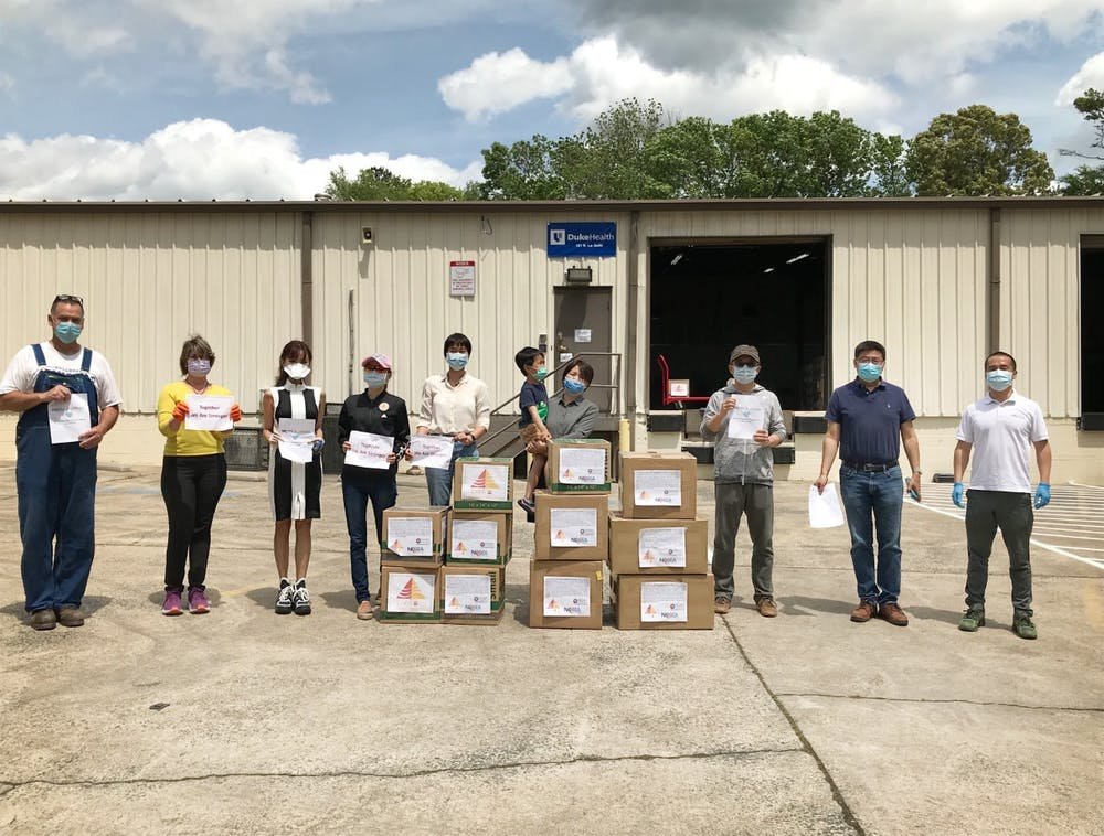 <p>Duke's Chinese community, along with local leaders, came together to help coronavirus relief efforts in North Carolina.&nbsp;</p>