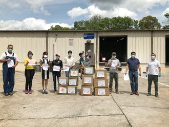 Duke's Chinese community, along with local leaders, came together to help coronavirus relief efforts in North Carolina.