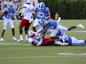 Duke's defense gave up four plays of 20 or more yards in the first half.