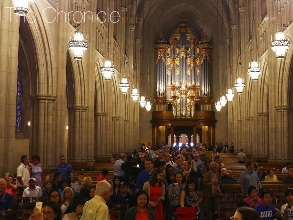 The Duke community celebrated the reopening of the Duke Chapel Wednesday morning.