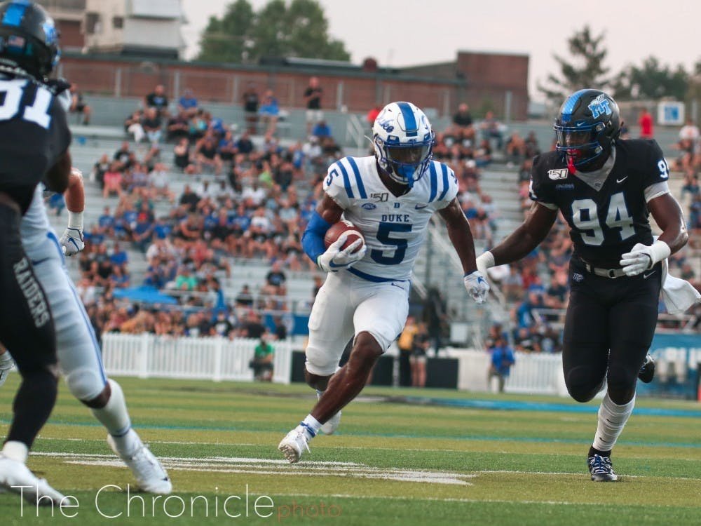 <p>Duke will no longer be playing Middle Tennessee in its revised 2020 schedule after dominating the Blue Raiders en route to a 41-18 win last year.</p>