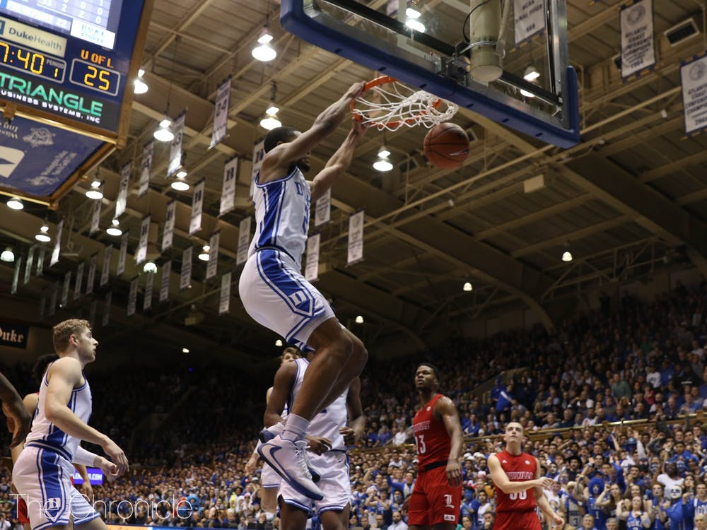 <p>Cassius Stanley's energy helped keep the Blue Devils within striking distance.</p>