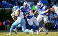Senior Ben Humphreys was crucial to the Blue Devils' second-half effort Saturday.