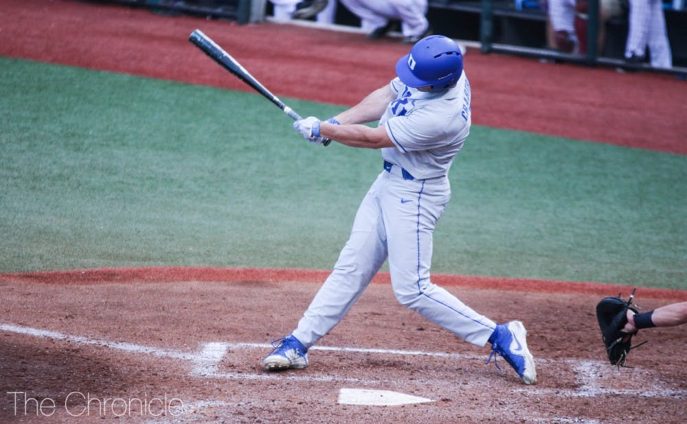 <p>Chris Crabtree's strong hitting helped keep the Blue Devils afloat against Virginia.</p>