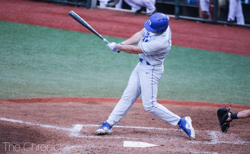 Chris Crabtree's strong hitting helped keep the Blue Devils afloat against Virginia.