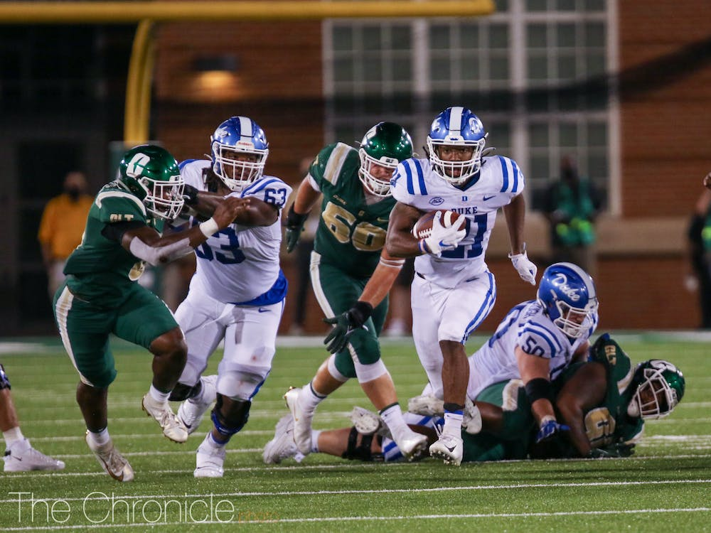 Senior running back Mataeo Durant ran for 255 yards and three touchdowns last Friday against Charlotte.