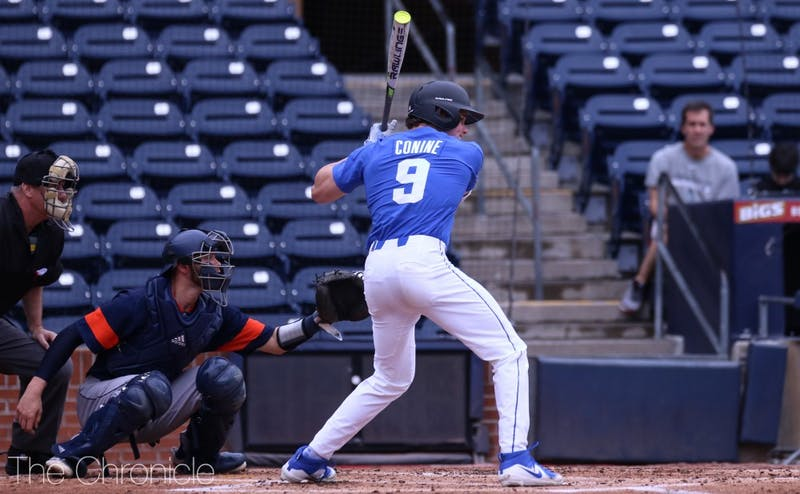 After struggling to start the season, MLB Draft prospect Griffin Conine's batting average climbed back to .280 this weekend.