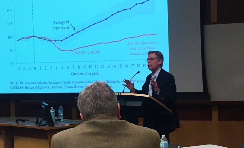 <p>Peter Wallison argued that government housing policies, not a failure to regulate Wall Street,&nbsp;contributed to the&nbsp;2008 financial crisis.</p>