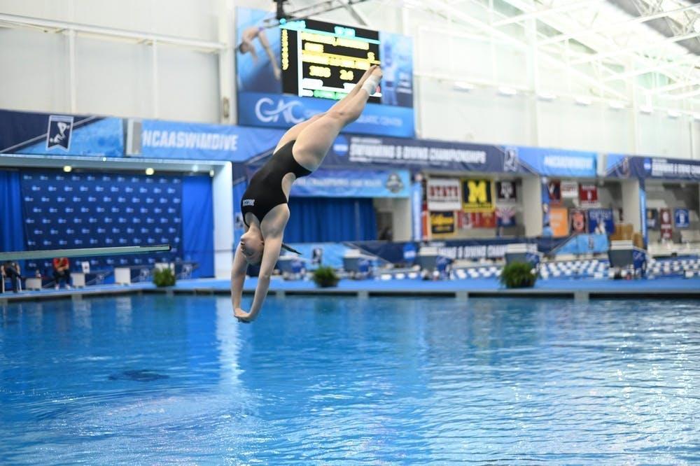 Junior diver Maddi Pullinger led the way for the Blue Devils.