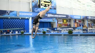 Junior diver Maddi Pullinger led the way for the Blue Devils.