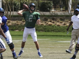 Redshirt sophomore Gunnar Holmberg will return from injury eyeing Duke's starting job, but he'll face some fierce competition.