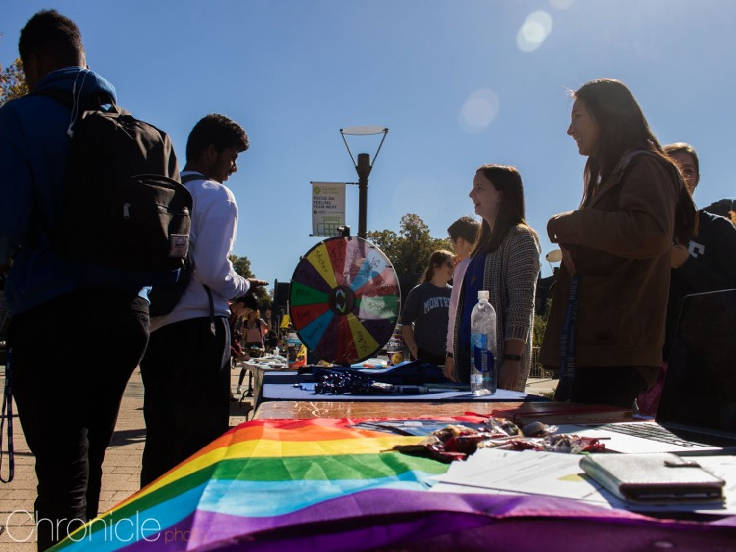 National Coming Out Day festivities were held on the B.C. Plaza this year.