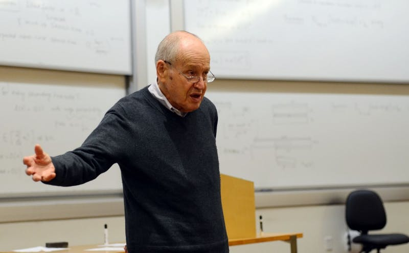 Duke's Dr. Samuel Katz helped develop the measles vaccine before it went on the market in 1963—he discussed his experience with students Tuesday.