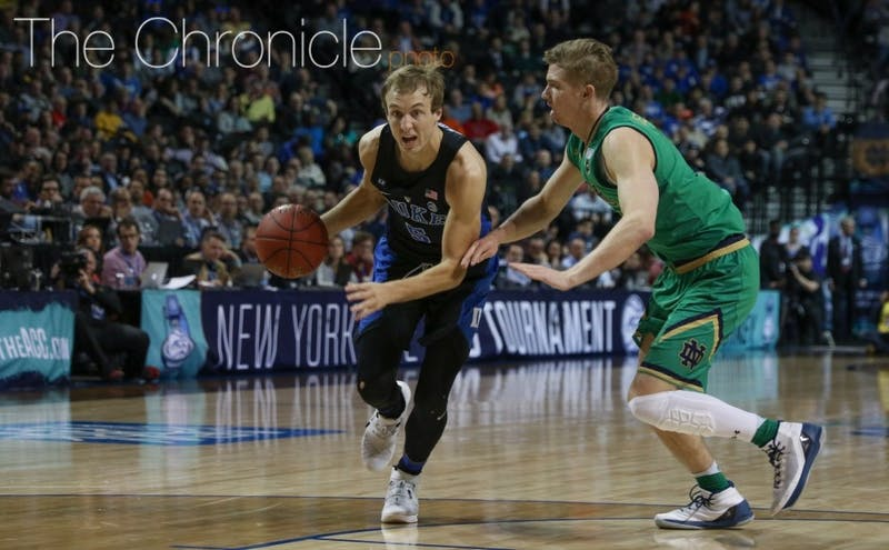 Luke Kennard becomes Duke's second lottery pick of 2017—joining Jayson Tatum—after the Franklin, Ohio native put up a superb sophomore season.