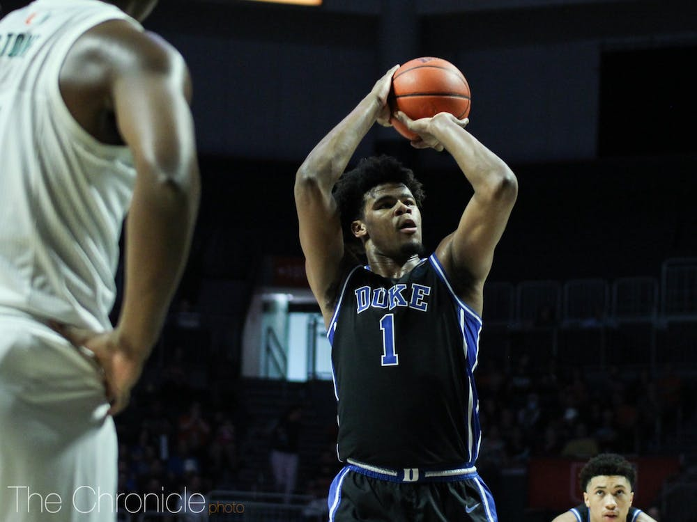 <p>Vernon Carey Jr. will look to dominate down low against the Yellow Jackets.</p>