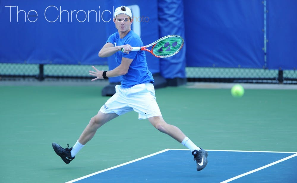 <p>Freshman Spencer Furman also picked up two wins Friday, teaming with Nick Stachowiak in doubles then dominating a ranked opponent in No. 1 singles.&nbsp;</p>