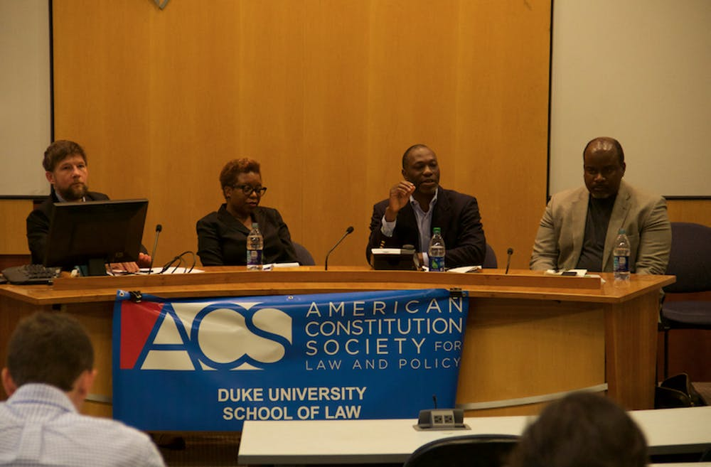 <p>The panel, which was hosted by the American Constitution Society,&nbsp;focused on how to deal with the problem of racial gerrymandering.&nbsp;</p>