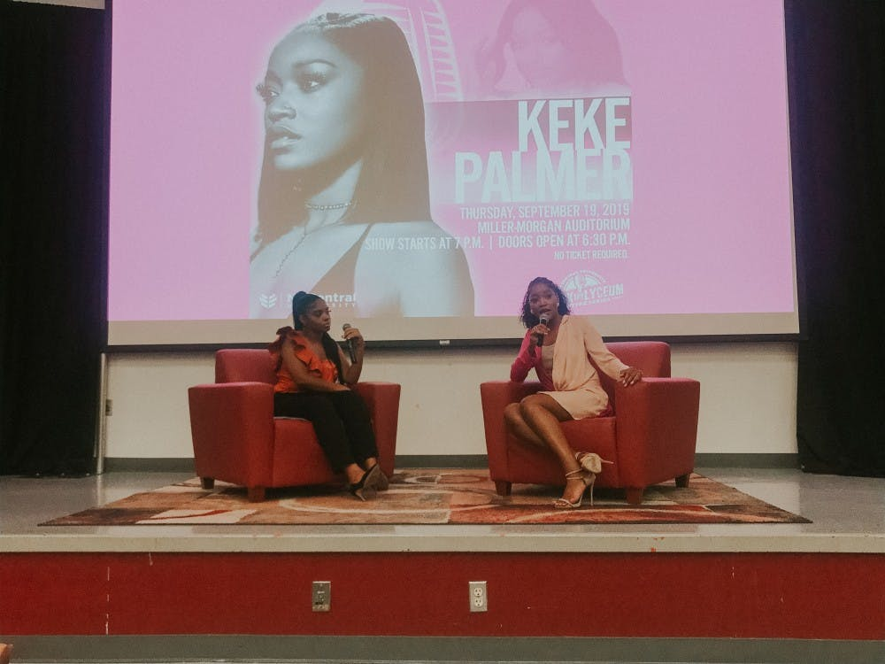 Keke Palmer, an actress, musician and talk-show host, opened NCCU's Rock the Lyceum lecture series earlier this month.