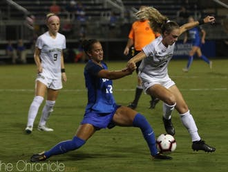 Kayla McCoy's two goals gave Duke the early lead it needed to claw out a win against Wake Forest.