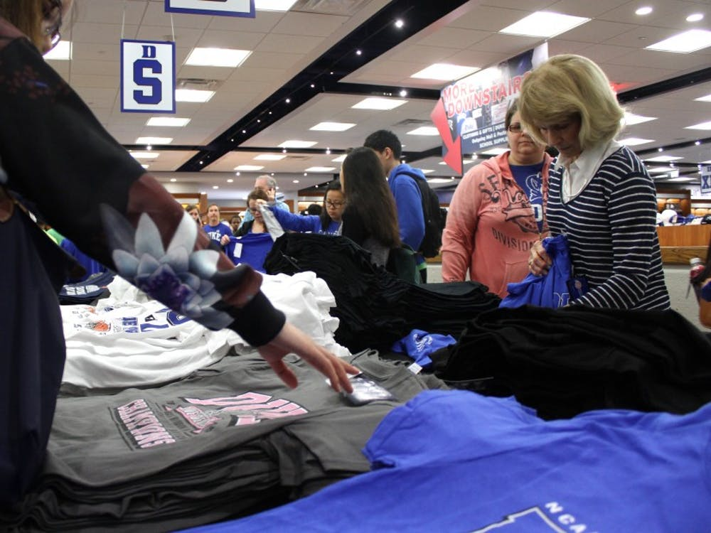 After Monday night's win, students and visitors poured into the University Store Tuesday to buy championship apparel.