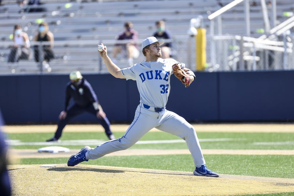 Jack Carey's six shutout innings led Duke to a 2-0 win in the series finale Sunday.