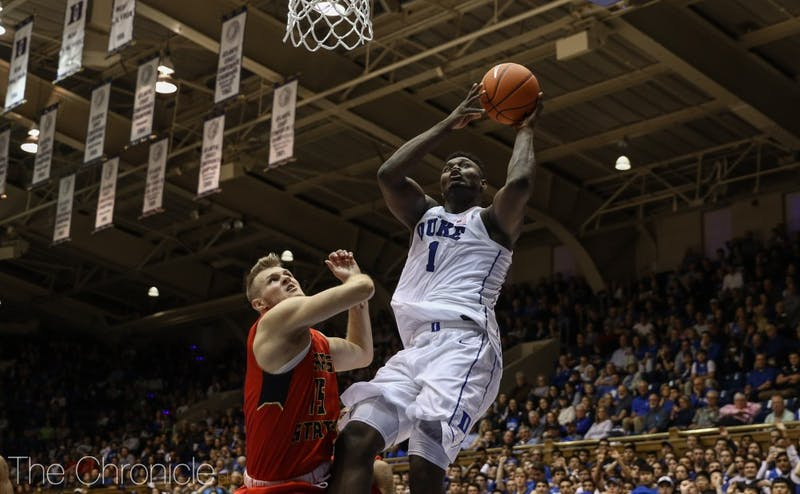Zion Williamson had an extremely efficient first half Sunday.