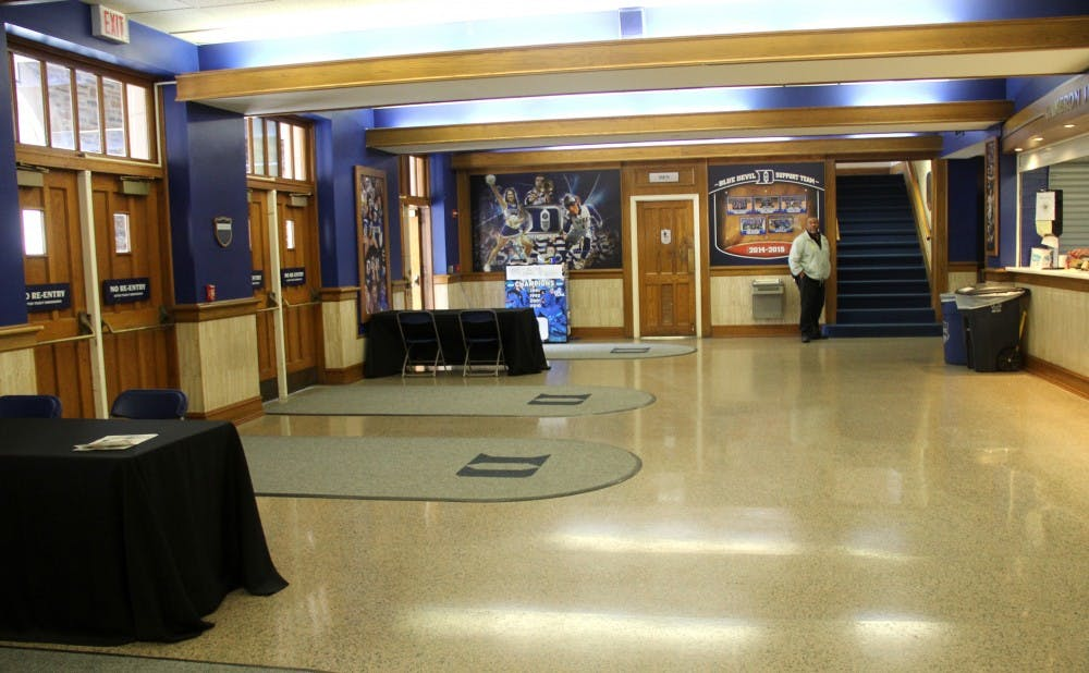 Renovations to Cameron Indoor Stadium will include a new scaled lobby, memorabilia space and two areas for game-day ticketing on the first floor.
