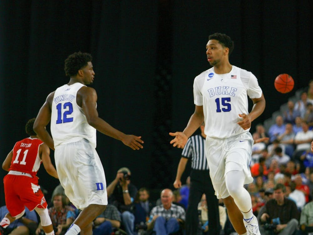 Freshmen Justise Winslow and Jahlil Okafor will just be two of the many newcomers showcased in Sunday afternoon's Elite Eight bout.