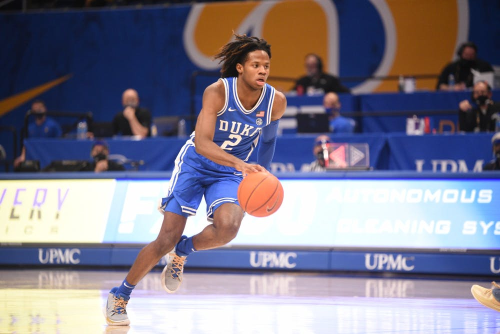 DJ Steward ranks top-three on the Blue Devils in points, rebounds and steals.