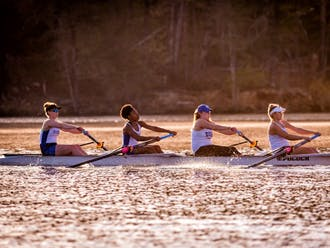 The Blue Devils are done with one race at the Head of the Charles and have two to go Sunday.