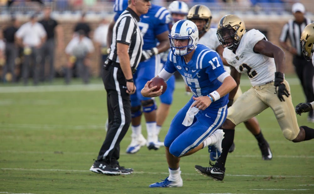 <p>Daniel Jones will have to lead Duke back from a big deficit to become bowl eligible Saturday.</p>