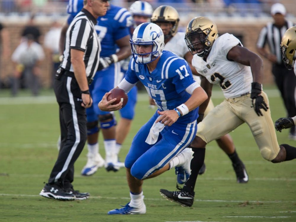 Daniel Jones will have to lead Duke back from a big deficit to become bowl eligible Saturday.