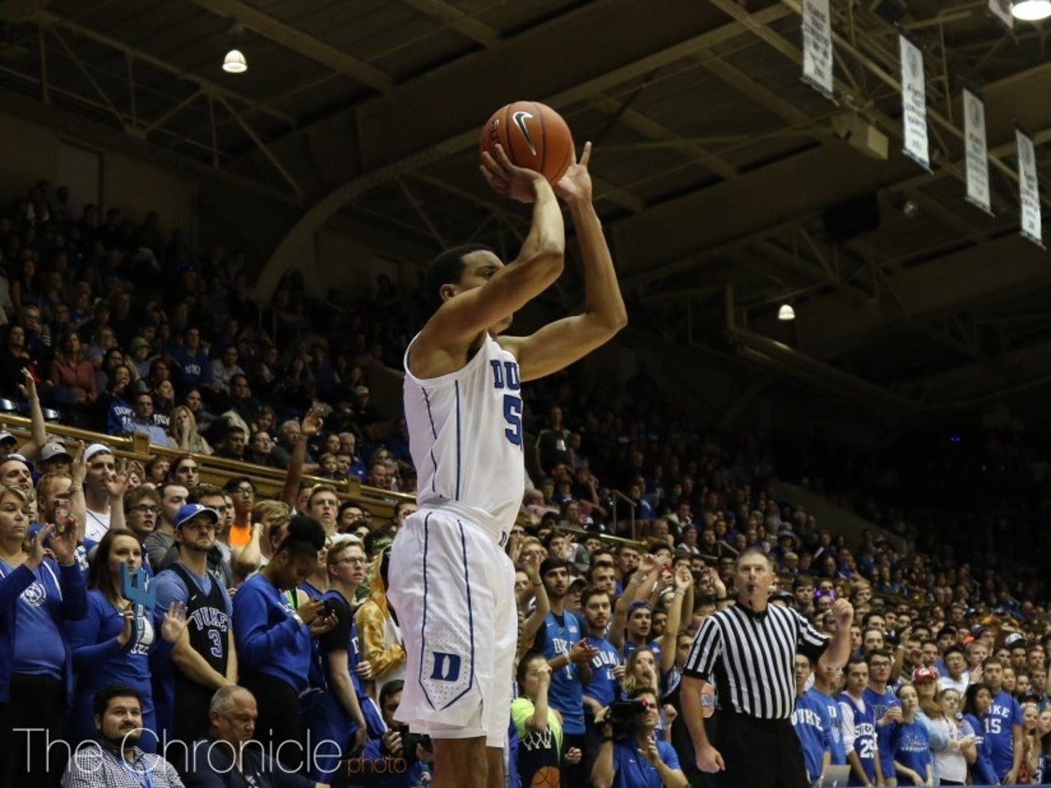 Justin Robinson notched his highest point total of the season in the first half alone.