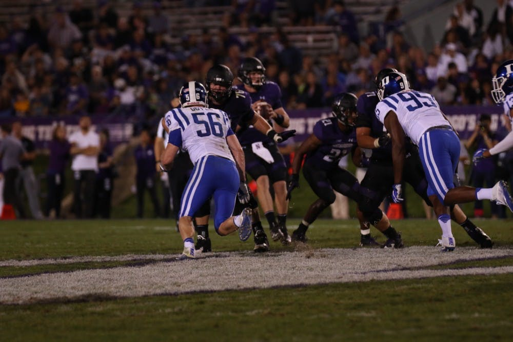 <p>Redshirt sophomore Danny Doyle appeared on College Gameday after earning a scholarship in the spring and picked up his first career sack Saturday night.</p>