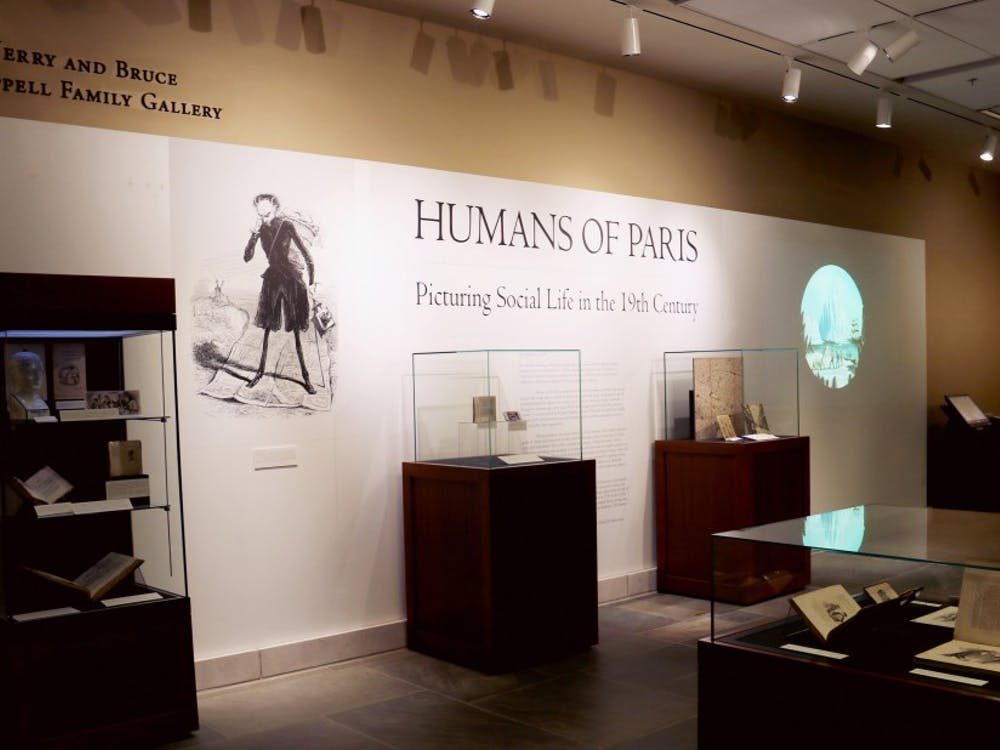 """""""Humans of Paris: Picturing Social Life in the Nineteenth Century"""" will be on display until Feb. 18, 2018 in Perkins."""