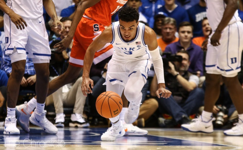 <p>Tre Jones' elite on-ball defense and hustle was clearly missed after he left the game due to injury.</p>