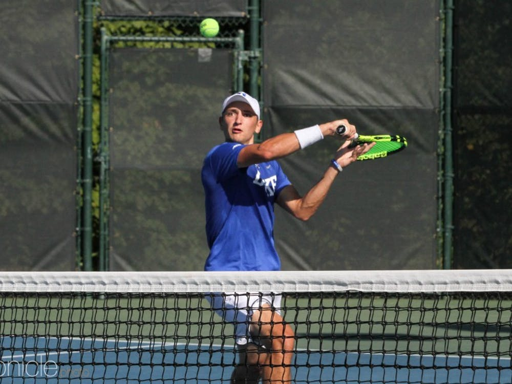 Nick Stachowiak beat one ranked opponent on his way to a singles title to cap the fall season.