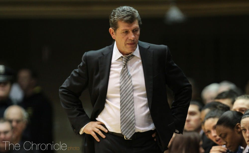 <p>Geno Auriemma has won 11 national championships at Connecticut and only lost one game since 2014 in last year's Final Four.</p>