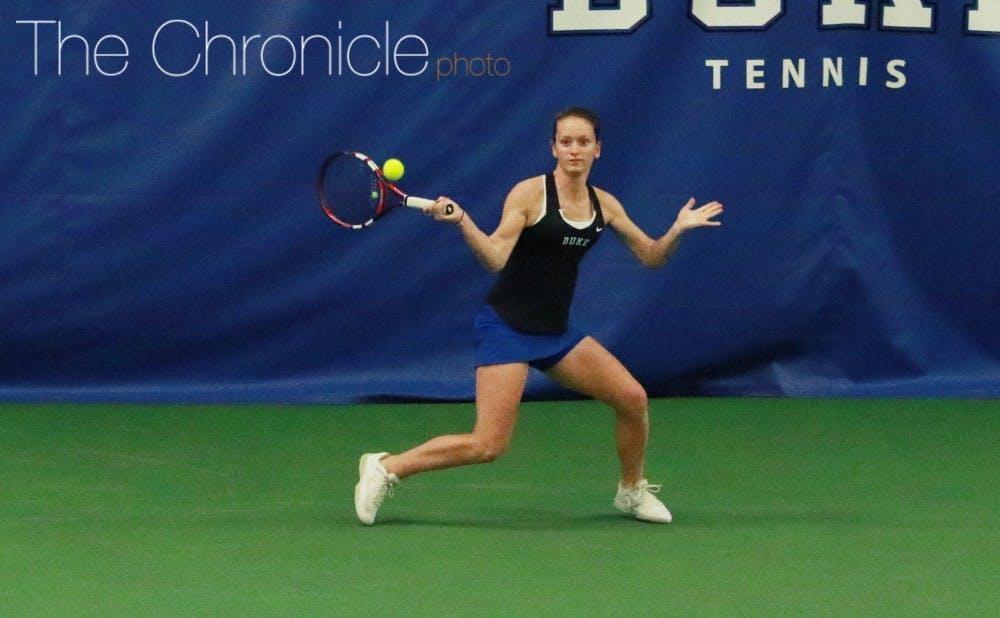 <p>The Blue Devils have won five straight matchups, including three in the ACC, by controlling doubles matches early and putting away big leads in singles.</p>