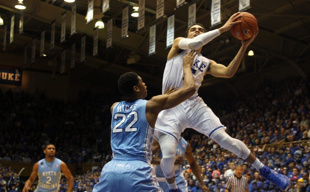 Freshman Tyus Jones poured in 22 points—including nine in the final 1:38—to lead the Blue Devil comeback Wednesday.