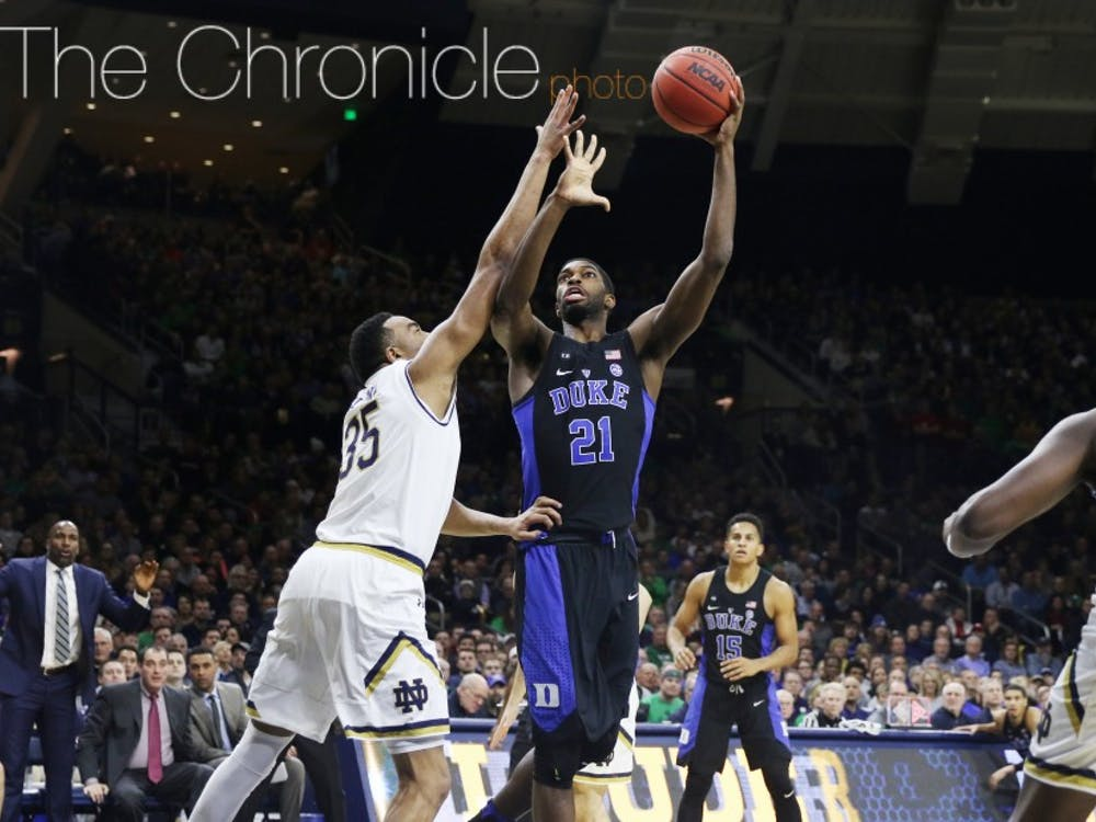 Graduate student Amile Jefferson has fought through a right-foot bone bruise to still be Duke's most consistent player in the paint.