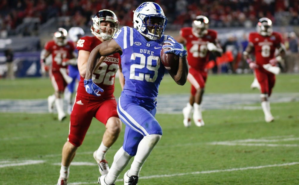 <p>Sophomore speedster Shaun Wilson ran for 282 all-purpose yards Saturday, including touchdowns of 85 and 98&nbsp;yards, both of which came at critical times.</p>
