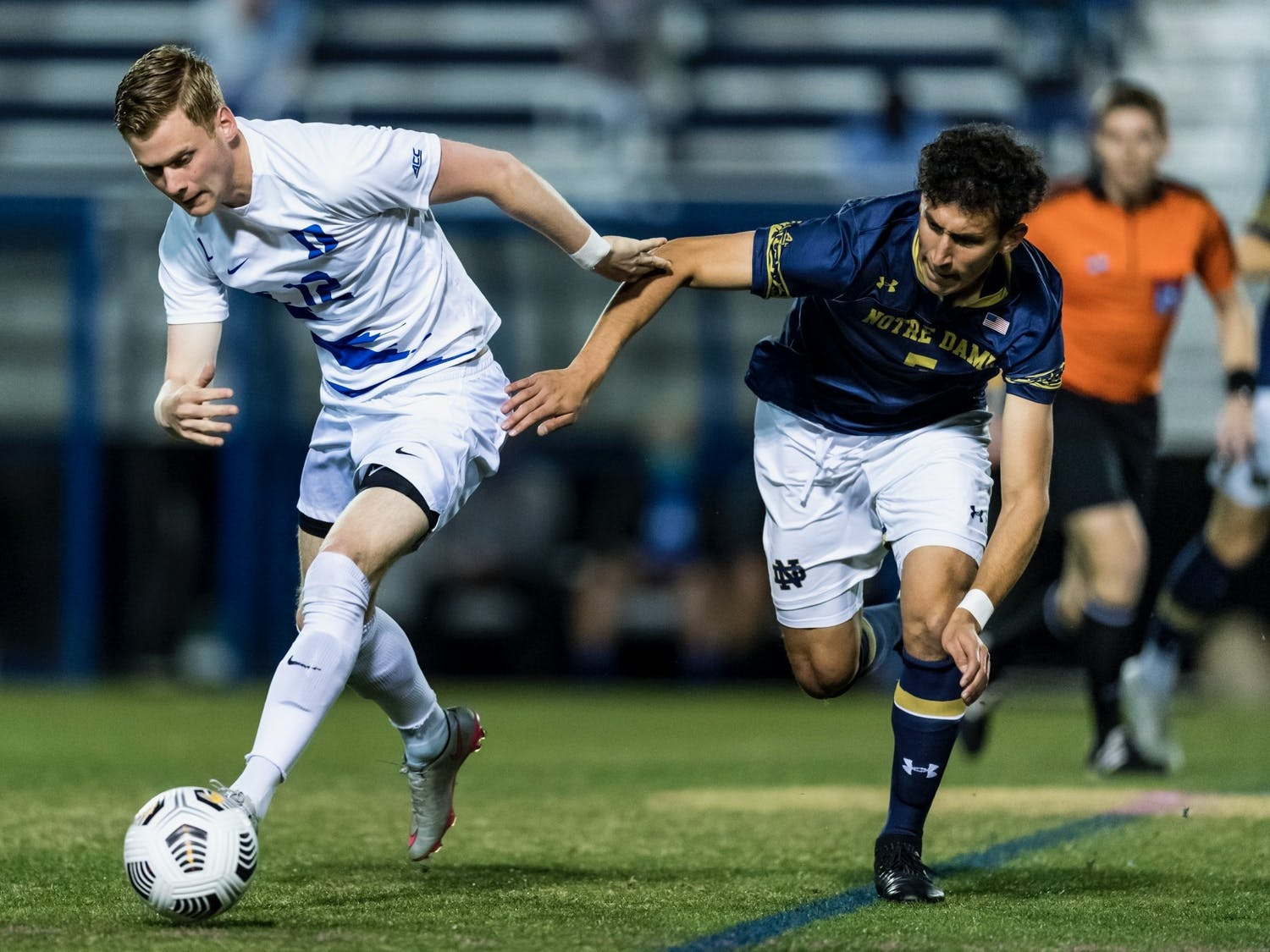 Sophomore forward Thorleifur Ulfarsson connected on two goals in the Blue Devils' 3-1 victory.