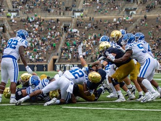 Notre Dame started slow, but eventually pulled out the comfortable victory in the Blue Devils' season opener.