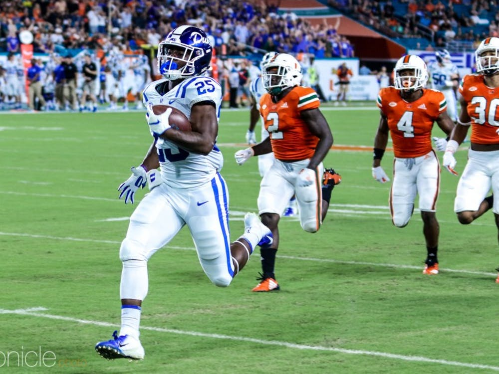 Deon Jackson set the table for Duke with a 75-yard touchdown run on its first play from scrimmage.