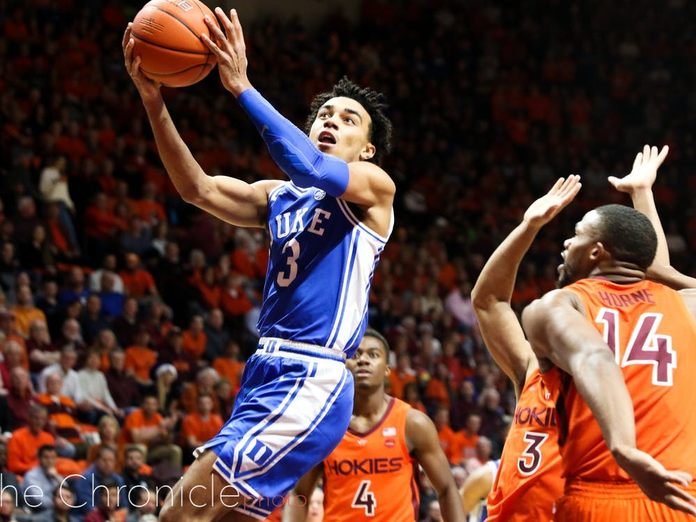 Duke played the Virginia Tech Hokies at Cassel Stadium, with this being Cassius Stanley's first game following his hamstring injury he suffered against Winthrop. The Blue Devils took home a win, final score 77-63.