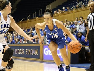 Faith Suggs is the lone true senior on the Blue Devils roster this season.